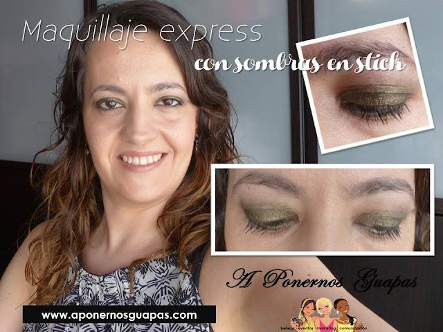 maquillaje express con sombras en stick Oriflame