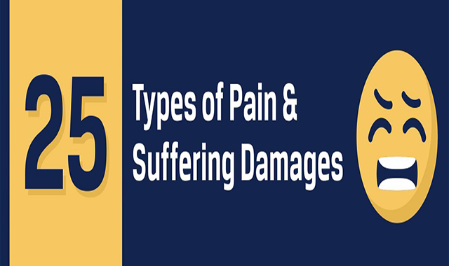 25 Types of Pain and Suffering Damages in Personal Injury Lawsuits #Infographic