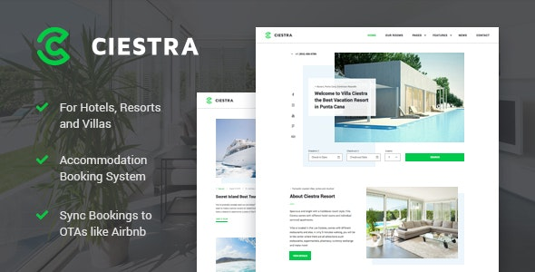 Ciestra v1.2.2 - Resort WordPress Theme