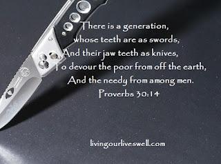 Proverbs 30:14