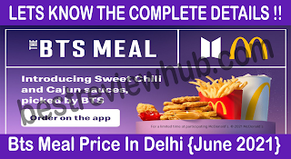 Bts Meal Price In Delhi {June 2021}
