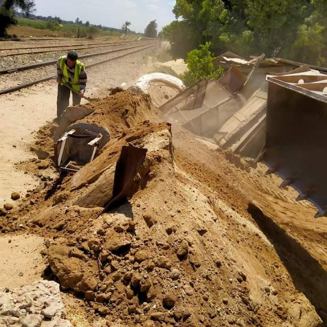 غلق ١٩ معبر مخالف وغير قانوني على السكة الحديد بوحدة النجاح ببدر .