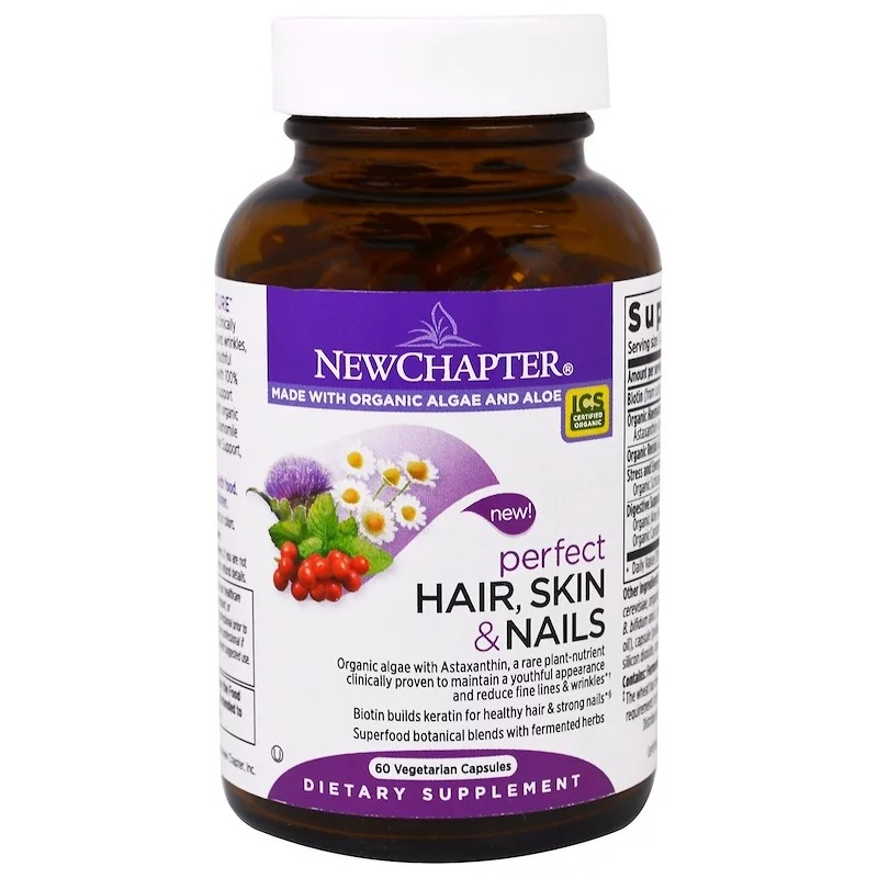 New Chapter, Perfect Hair, Skin & Nails, 60 Vegetarian Capsules