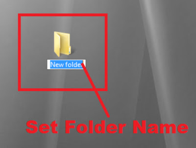 how to create a folder without name & make it invisible