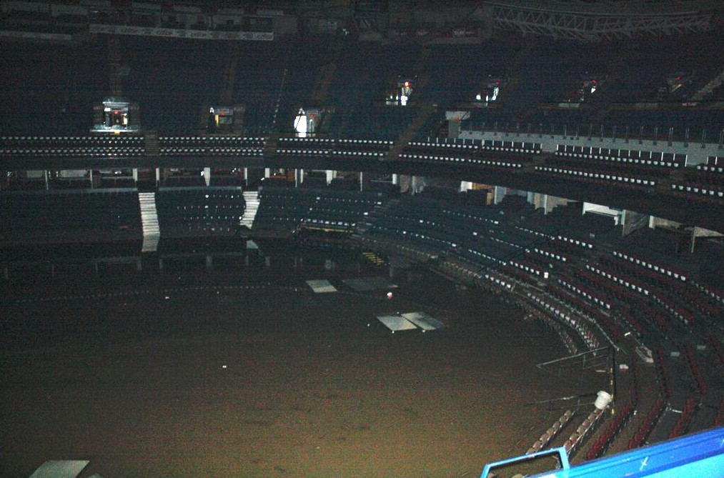Scotiabank Saddledome Flooded Frozen Faceoff