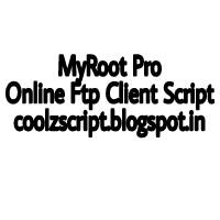 Myroot pro online ftp script