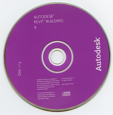 Disco CD-ROM de autodesk revit de 2006