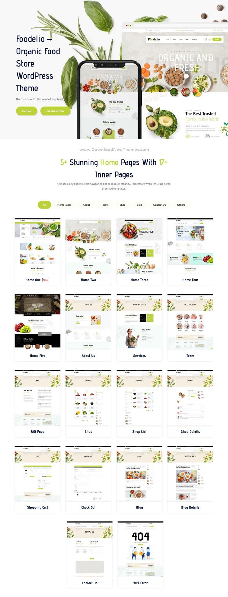Organic & Food WooCommerce Multivendor WordPress Theme