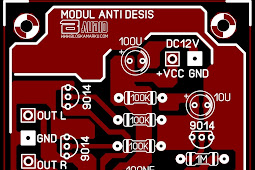 PCB Layout Modul  Noise Filter anti desis