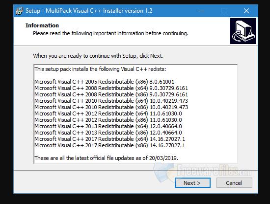 تحميل برنامج MultiPack Visual C ++