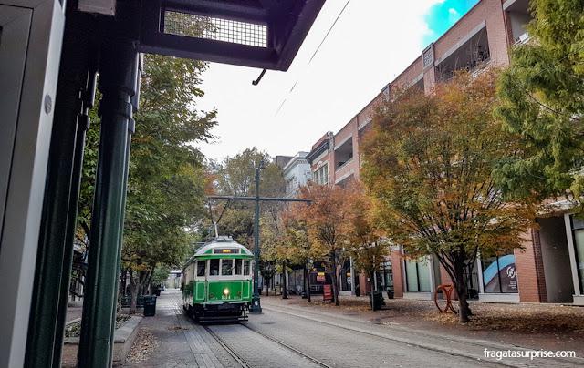 Bonde da Linha de Mais Street, em Memphis, EUA