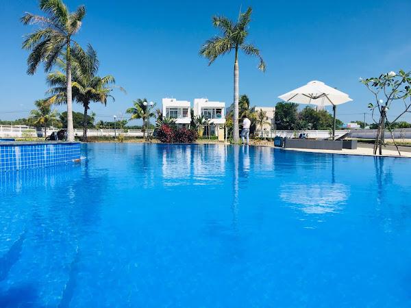 Ảnh thực tế khu vực Hồ bơi trong dự án Princess Villas Hồ Tràm