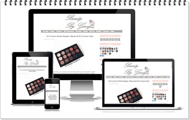 Responsive Blog Tasarımı-Beauty By Gizzy