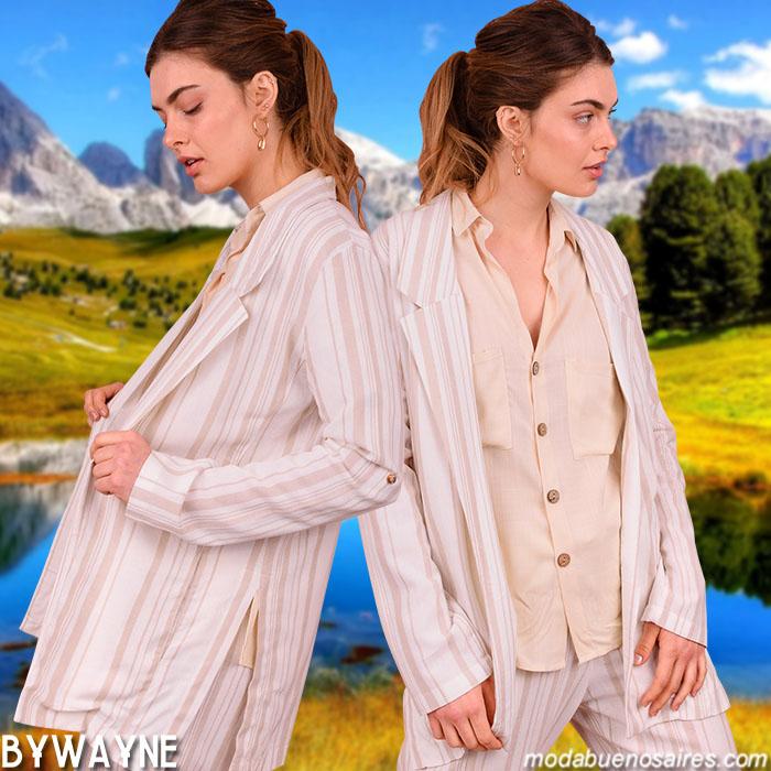 Moda primavera verano 2020: Blazers, sacos, pantalones, camisas, remeras y blusas primavera verano 2020 │ Ropa de mujer primavera verano 2020.
