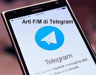 Arti F/M di Telegram