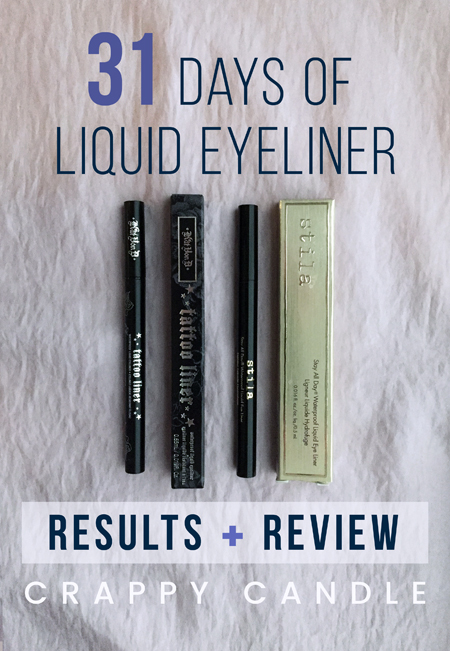 31 Days of Liquid Eyeliner >> Results & Review! :: Crappy Candle