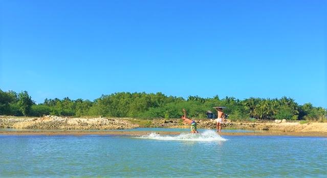 Skimboarding at Seafront Beach Resort Liloan Cebu North