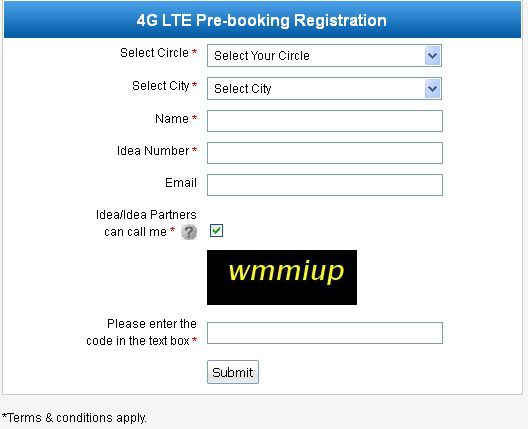 Pre-Book Idea 4G Connection and Get Free 1GB Data usage