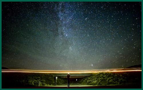 تصوير مجرة ليلا
