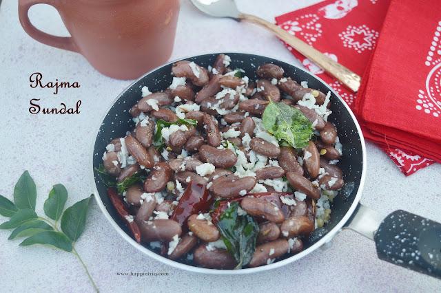 Rajma Sundal Recipe | Red Kidney Beans Sundal