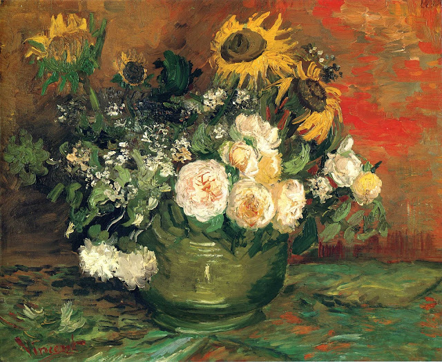 Vincent van Gogh, Still Life With Roses And Sunflowers, 1886