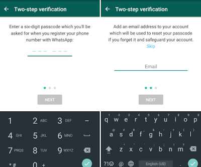 whatsapp 2 step verification