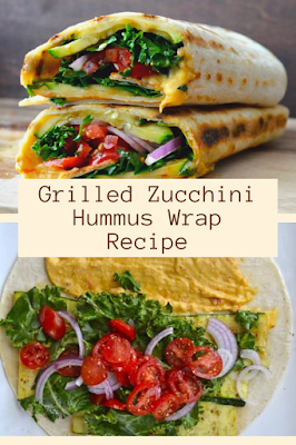 Grilled Zucchini Hummus Wrap Recipe