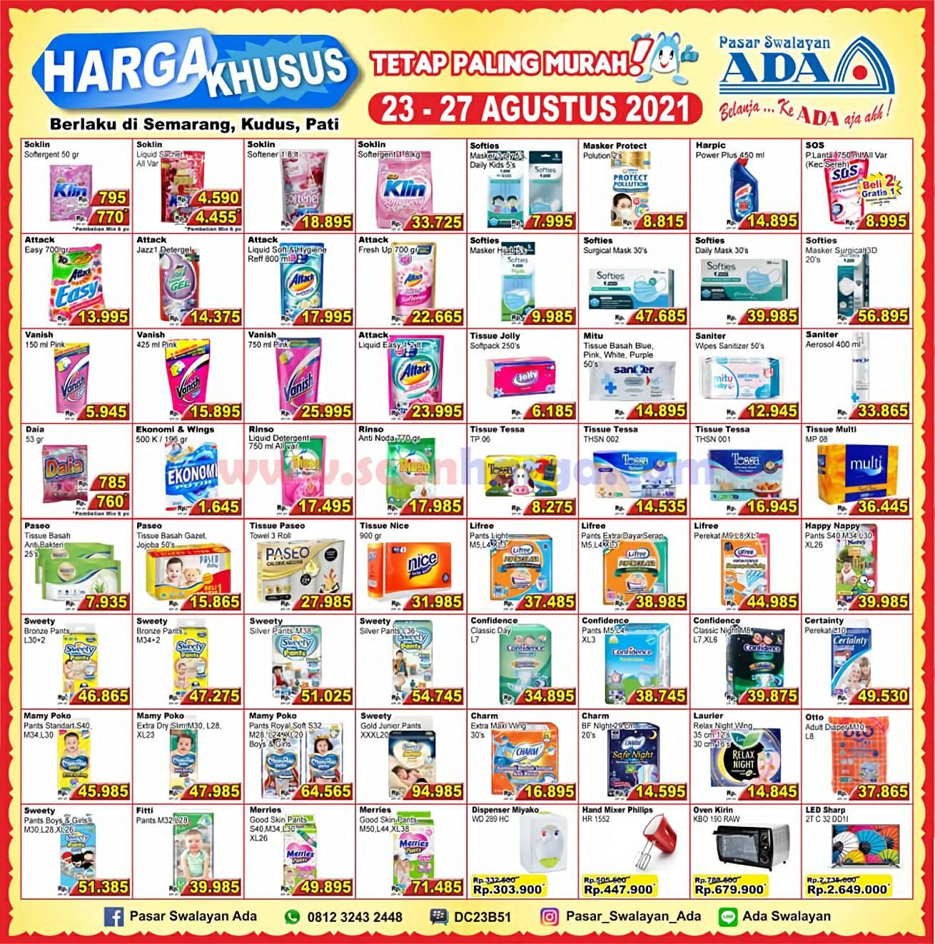 Promo Katalog Ada Swalayan Weekday Harga Khusus 23 - 27 Agustus 2021 2