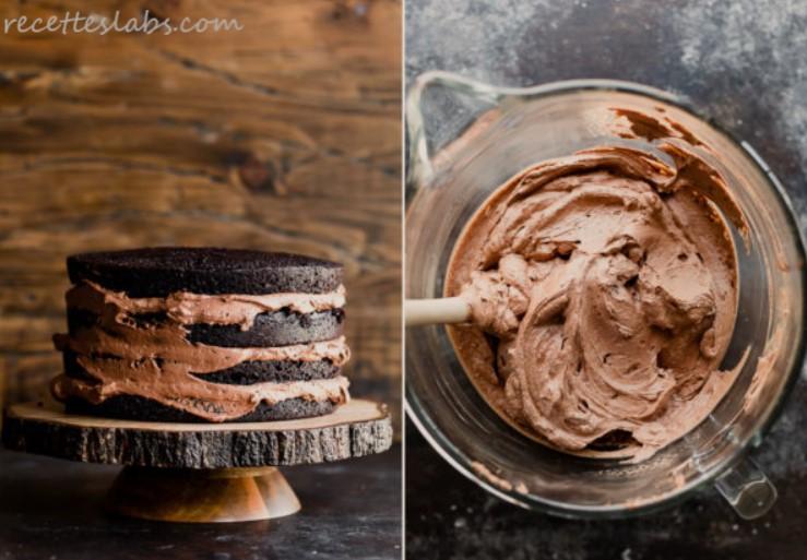 mousse au chocolat pour gâteau au chocolat