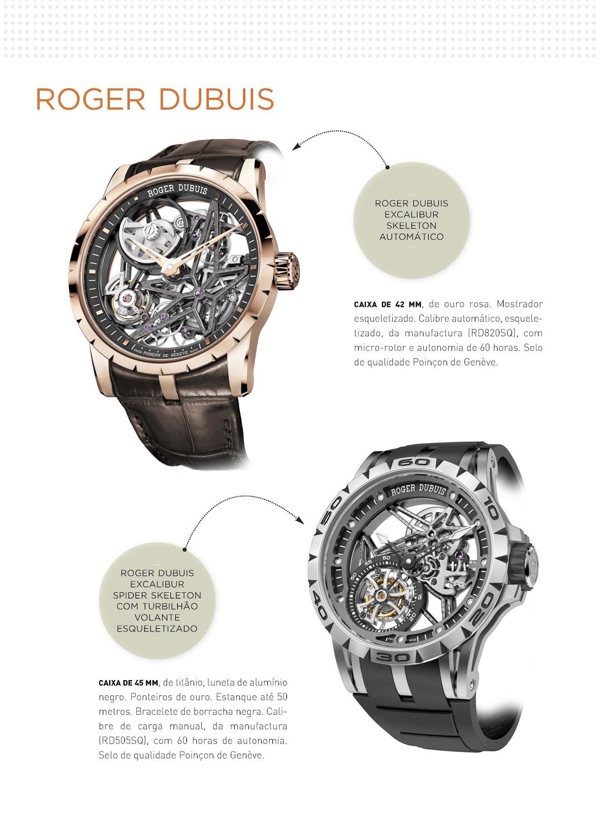 c92d46049e7 Relógios   Canetas online - relógios Roger Dubuis Excalibur Skeleton  Automático