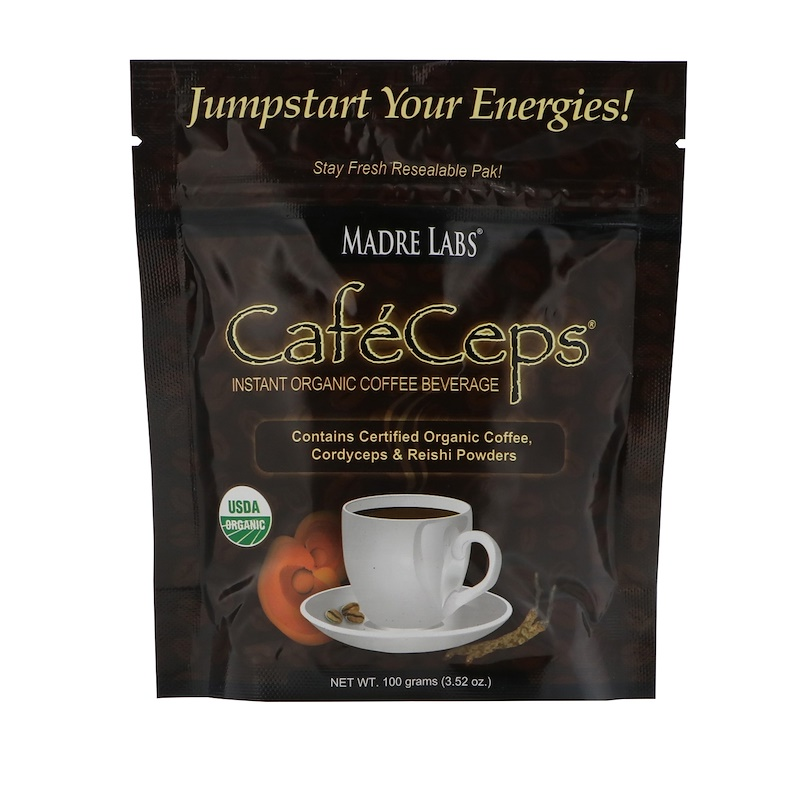 http://www.iherb.com/pr/Madre-Labs-CafeCeps-Certified-Organic-Instant-Coffee-with-Cordyceps-and-Reishi-Mushroom-Powder-3-52-oz-100-g/23428?rcode=wnt909