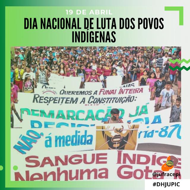 19 DE ABRIL: DIA NACIONAL DE LUTA DOS POVOS INDÍGENAS