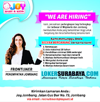 We Are Hiring at Joy Baby & Kids Jombang Terbaru Oktober 2019