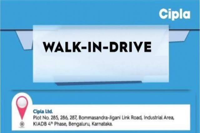 Cipla | Walk-in for Production on 23 Jan 2020 | Pharma Jobs in Pitampur