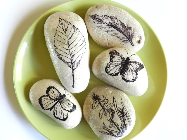 Sharpie Decorated Stones
