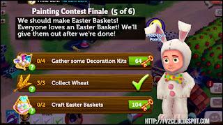 fv2ce, wheat, easter egg basket, easter egg decoration
