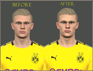 PES 2017 Faces Erling Haaland by Mo Ha