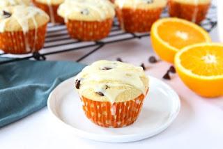 Orange Ricotta Chocolate Chip Muffins
