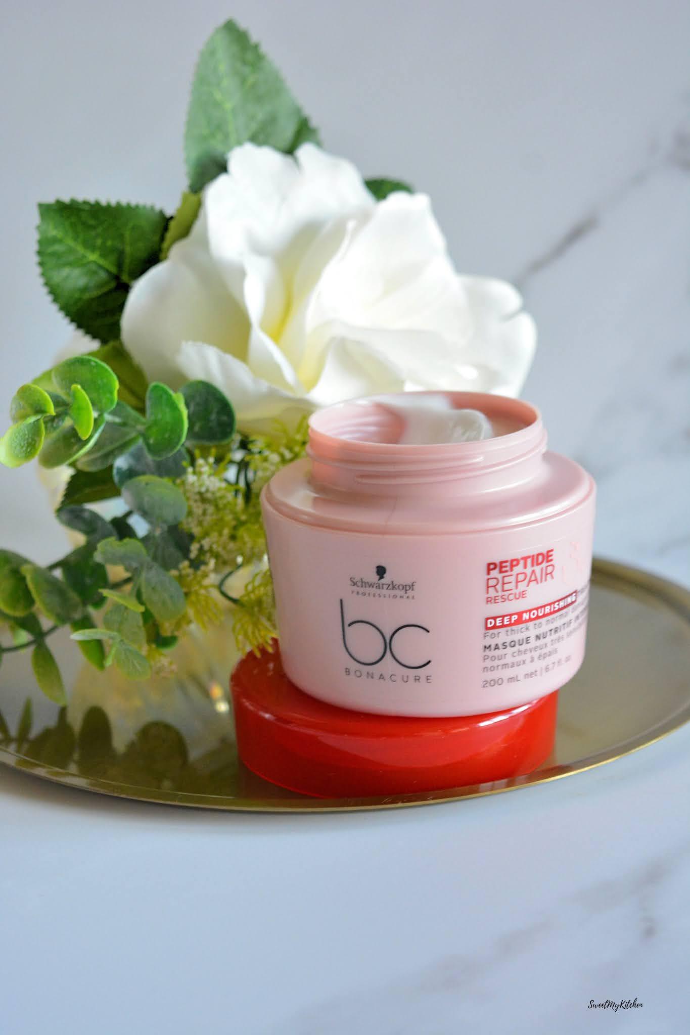 BC Bonacure Peptide Repair Rescue hair mask deep nourishing