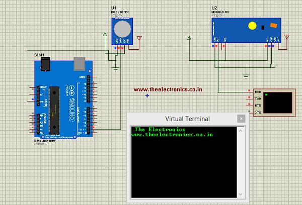 Arduino Rf module simulation in proteus