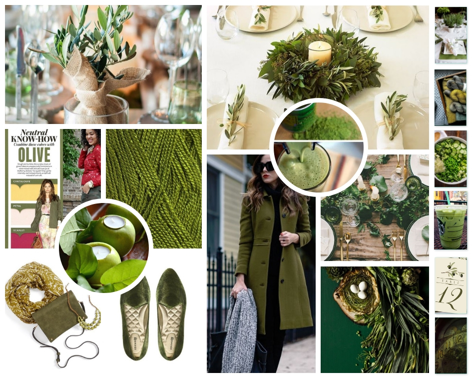 January 2019 Mood Board, Olive Green Renewal, The Low Country Socialite
