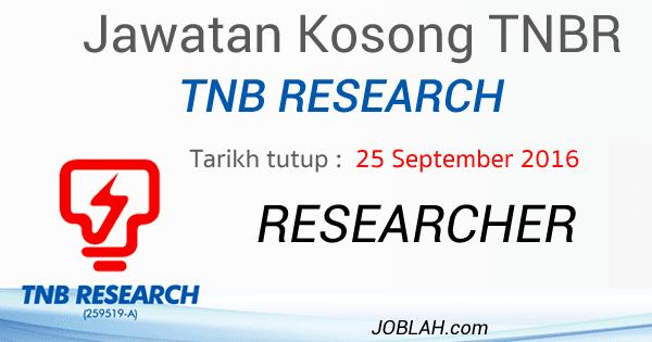 Jawatan Kosong TNBR Terkini September 2016