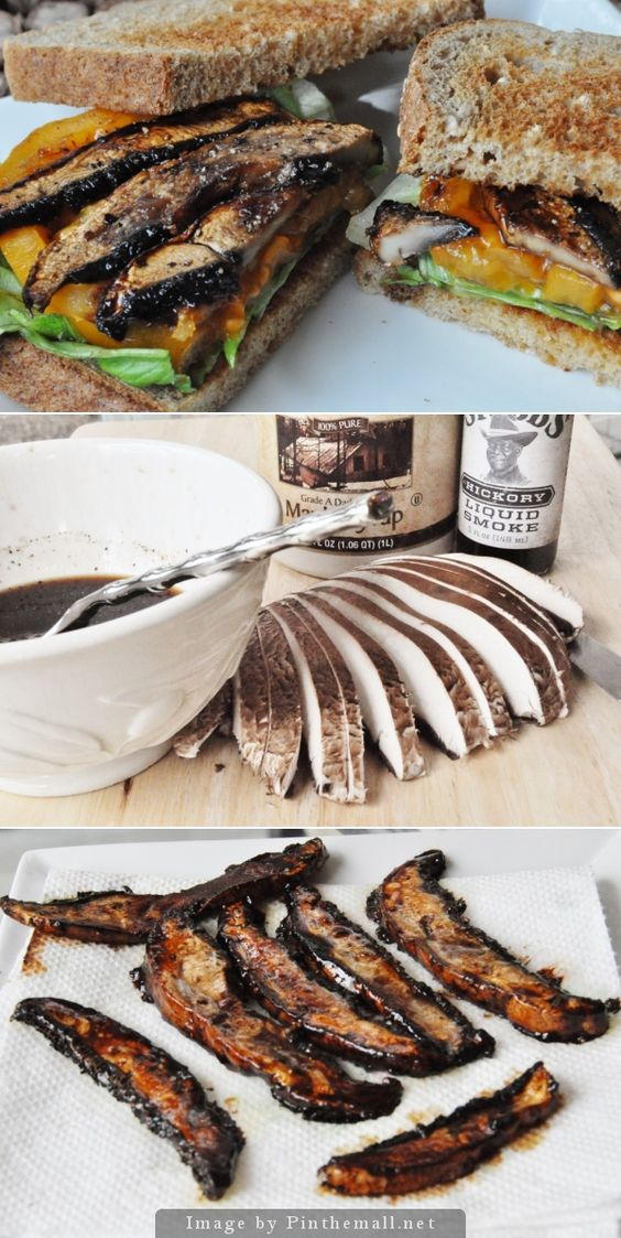 Smoky, savory, Portobello bacon. Makes a great BLT.