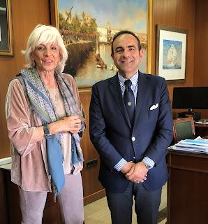 Incontro a Cadice tra Massimo Deiana e Teofila Martinez Saiz