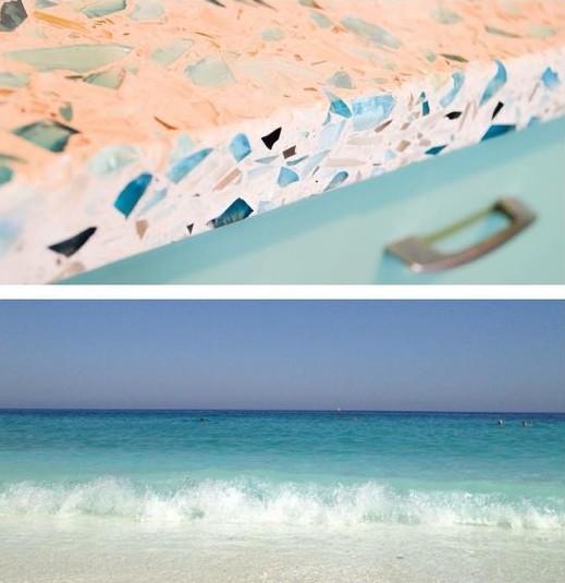 Ocean Colors Glass Countertops