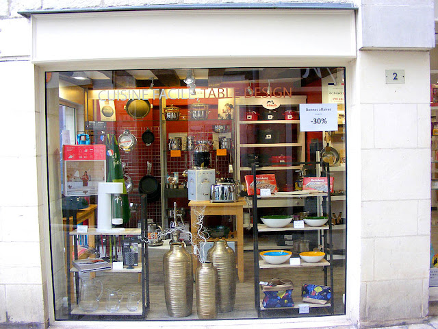 Kitchenware shop, Loches, Indre et Loire, France. Photo by Loire Valley Time Travel.