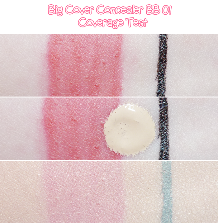 Etude House Pink Bird Box Big Cover Concealer BB 01 Vanilla Review and Swatches