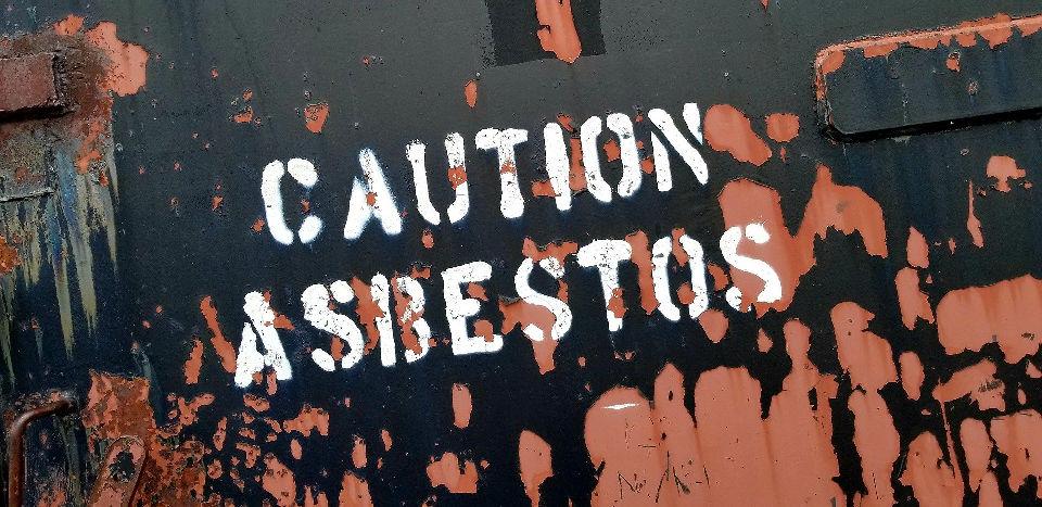 asbestos caution