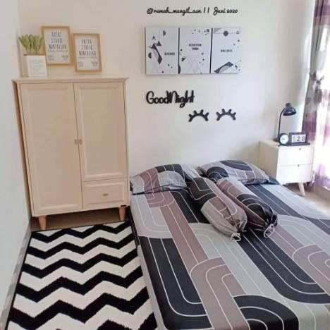 Desain ruang kamar rumah minimalis type 45 dengan lemari khusus untuk ruang kamar