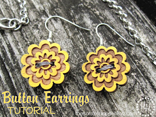 floral button earrings
